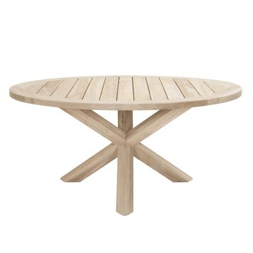 "Boca Outdoor 63"" Round Dining Table Gray Teak"