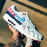 shosouvenir : Piet Parra x Nike Air Max 1 White Multi Color matching, retro air cushion, jogging shoes