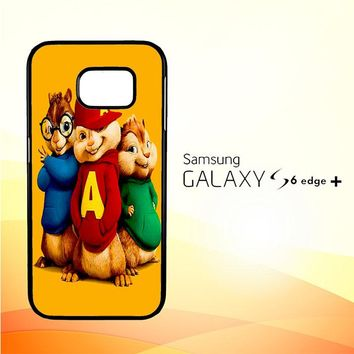 Alvin and the Chipmunks Character V 2074 Samsung Galaxy S6 Edge Plus Case