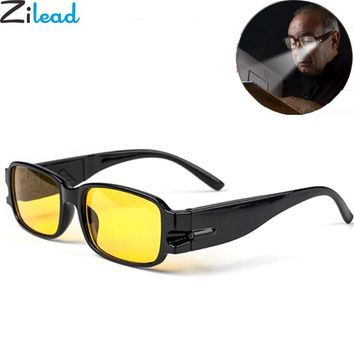 Zilead LED Light Reading Glasses Spectacle Diopter Magnifier Adjustable Magnetic Therapy Eyeglass Health Protection Eyewear