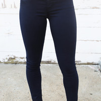 Big Star 'Alex' Dark Navy Skinnies