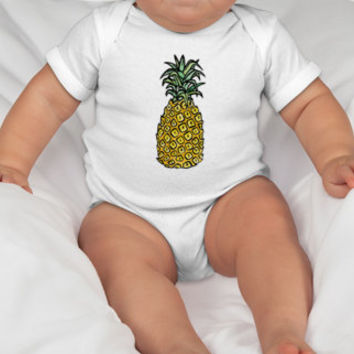 Pineapple Baby Onesuit or Toddler Tee
