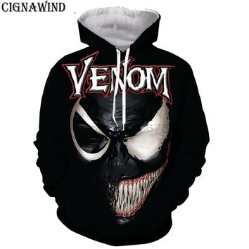 New arrival hoodie men/women marvel movie Venom 3D printed hoodies sweatshirts Long sleeves Harajuku style streetwear tops
