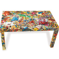 Jim Lee Signed X-Men Comic Collage Table and Legs FREE SHIPPING USA