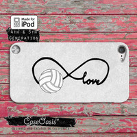 Volleyball Love Infinity Symbol Cute Tumblr Inspired Case iPod Touch 4th Generation or iPod Touch 5th Generation Rubber or Plastic Case