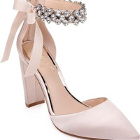 Jewel Badgley Mischka Deirdra Ankle Strap Pump (Women) | Nordstrom