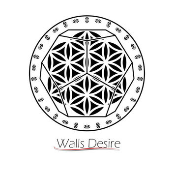 Dodecahedron Sacred Geometry, Flower Of Life Pattern, Circre Decoration, vinyl decal, J00131.
