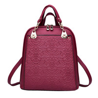 2017 Newest Design Female Bags Classic Leisure Fashion Occident Style Backpacks Solid Color Wine Red Grey Black Blue Girls Bag-in Backpacks from Luggage & Bags on Aliexpress.com | Alibaba Group