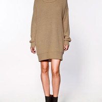 RIB KNIT DRESS - ZARA