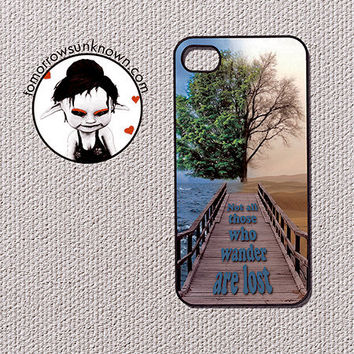 iPhone Case Phone Case / Fits Iphone 4, 4S (90040) Not all those who wander are lost Tolkien quote