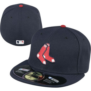 New Era Boston Red Sox On-Field 59FIFTY Fitted Hat - Navy Blue
