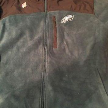 PHILADELPHIA EAGLES NFL REEBOK WOMEN'S FULL ZIP FLEECE JACKET SHIPPING