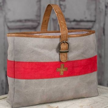 STEAL Swiss Army soft Canvas Carry-All Tote Bag