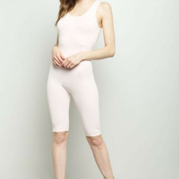 Solid Capri Catsuit Juniors