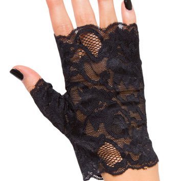 Betty Fingerless Lace Gloves