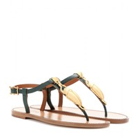 valentino - embellished leather sandals
