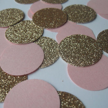 Glitter Confetti Wedding Confetti Pink Wedding Rose Wedding Blush Wedding Pink and Gold Rose and Gold Blush Bronze Metallic Wedding Decor