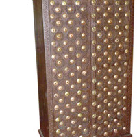 HANDMADE Brass Chic, Rustic, Vintag Armoire,storage, dresser, Indian Armoire