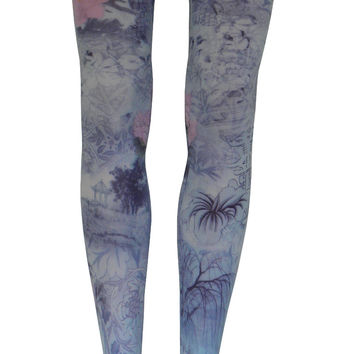Formosa Tights in Soft Blue, Lavender, and Pink
