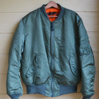 Vintage Flight Jacket Alpha Industries MA 1 U.S. Air Force Flight Jacket
