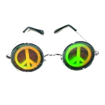 Vintage Hologram Round Sunglasses Rad Shades Hippie Club Kid Cyber Grunge