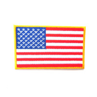 America Flag Medium Iron on Patch, USA embroidered Patch