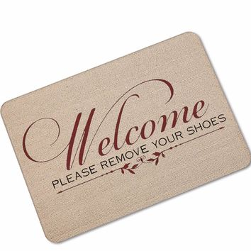 Autumn Fall welcome door mat doormat Welcome Home Artistic Font Rubber Anti Slip s Door Entry Front s Outdoor Entrance Indoor Funny Bathroom Rugs AT_76_7