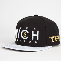 Yrn Logo Mens Snapback Hat Black One Size For Men 26679310001