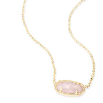 Kendra Scott - Elisa Necklace Gold with Rose Quartz