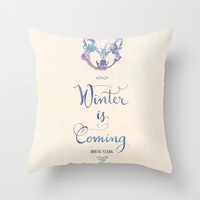 Game of Thrones . House Stark Throw Pillow by Earthlightened