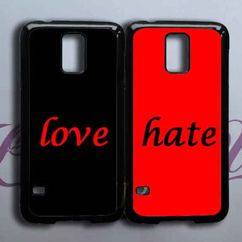Love and hate,best friend,in pair two pcs,samsung galaxy s5,samsung galaxy s4 ,galaxy S3 case.Samsung S3 mini,S4 mini,S4 active,Note 2