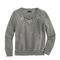 crewcuts Girls Cashmere Necklace Sweater