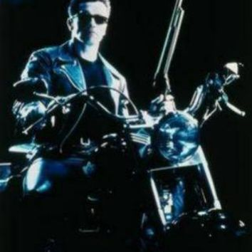 Terminator 2 Motorcycle movie poster Sign 8in x 12in