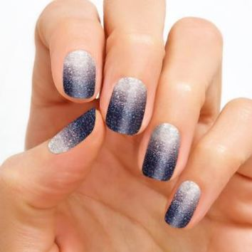 100% Real Nail Polish Strip by Color Street - Artic Evening (Buy 3 get 1 Free)
