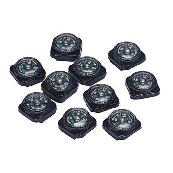 10PCS Mini Compass For Paracord Bracelet Outdoor Survival Mini Pocket Compass for Hiking Camping tools #20