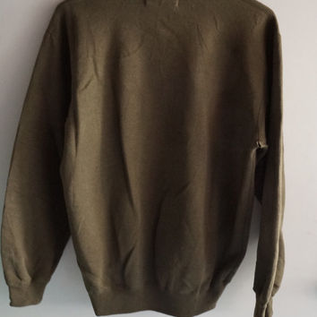 Vintage 90's Gap Sport Olive Green Athletic Raglan Sweatshirt ITEM 309 FREE SHIPPING Mens Womens Army  Medium / Large