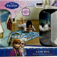 Disney Frozen Activity Game Rug with Action Figure 26.3 x 39.5 inch New
