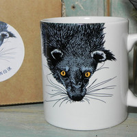 Binturong Illustration Mug
