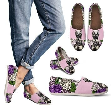 Illustrated Schnauzer Casual Shoes