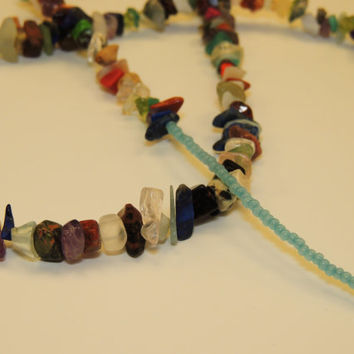 Bright Gem Stone Beaded Necklace