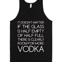 Room For More Vodka-Unisex Black Tank