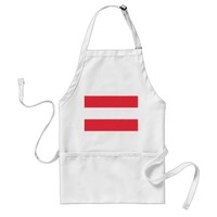 Apron with Flag of Austria