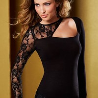 Black Cut out lace top  from VENUS