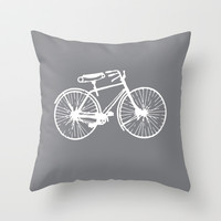 Reverse Bike Throw Pillow by Kelly Stahley Designs