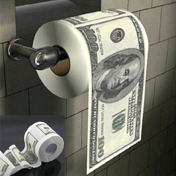 $100 Dollar Bill Toilet Paper Rolls