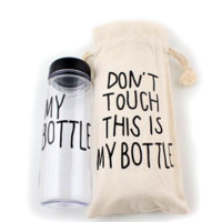 New Clear MY BOTTLE Sports  500ML Travel Bottle with Bag