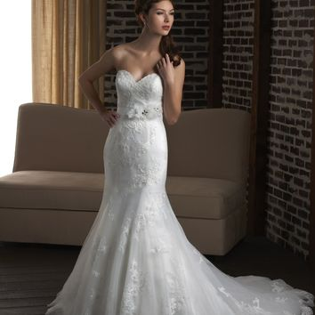 Bonny Classic 329 Lace Mermaid Wedding Dress