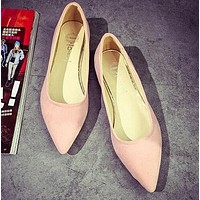 Suede Casual Comfortable Pointed Toe Flats Shoe