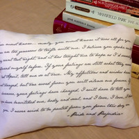 Pride and Prejudice Pillow by OnTheDayDream on Etsy
