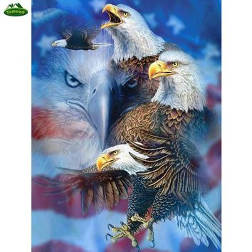 DIY Diamond Painting Flying Philadelphia Eagles Picture 3d Diamond Embroidery Cross Stitch Mosaic Kits Home Decal Sticker